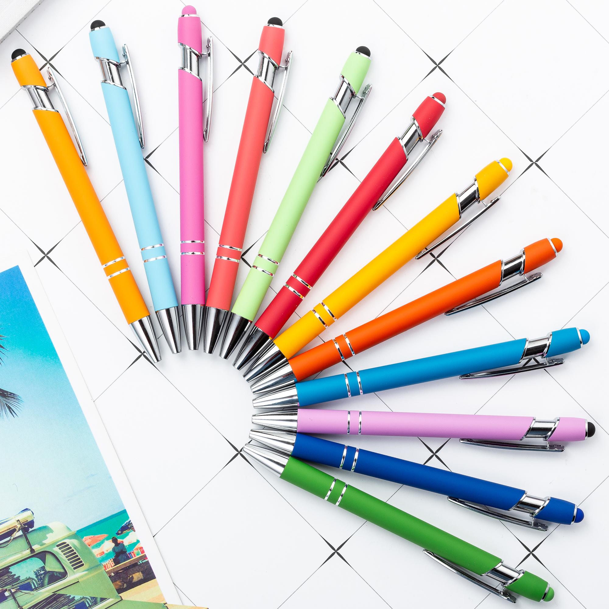 Фабрика Jiangxi, стилус с резиновой металлической шариковой ручкой, алюминиевая рекламная подарочная стилус, ручка