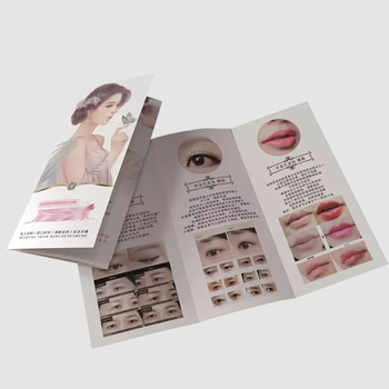 cheap custom full color cheap Cosmetics advertising brochures catalog instruction