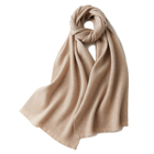 Wholesale Scarf Pure Wholesale 2021 New Pattern Women Fashion Winter Wool 100% Cashmere Scarf Scarves Shawl Ladies Custom Mongolia Pure Color