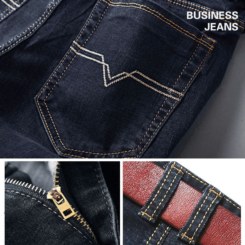 men's Jeans loose skinny fit  men pants for Customized. ripped badge and print detail