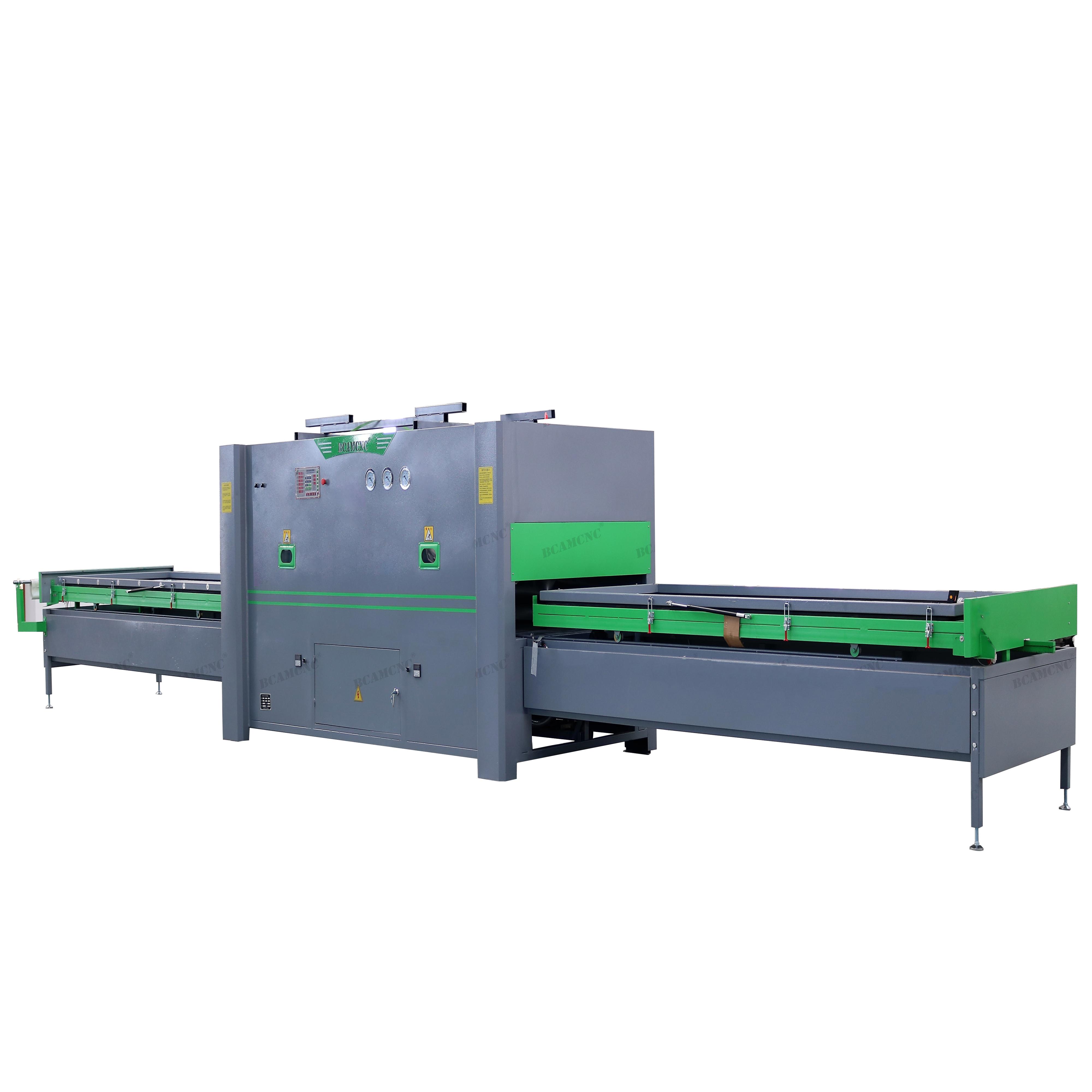 Automatic PVC vacuum press membrane laminating machine for PVC door cabinet production line