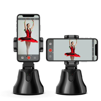 360 degree rotation smart phone holder auto selfie face tracking smart cell phone holders