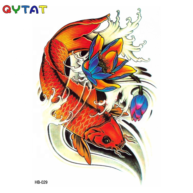 Wholesale Non-toxic Ink Printing Artificial Body Colourful Temporary Tattoo Sticker