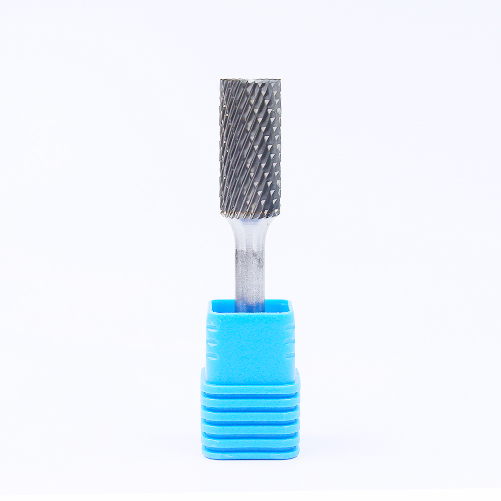 6mm Metal Machining Wood Polishing Grinding Tool 1/4inch Alloy SB Cylinder Shape With End Cut Tungsten Carbide Rotary Burrs