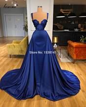 Темно-синие элегантные вечерние платья, Длинные Сексуальные вечерние платья русалки, платья знаменитостей, вечерняя одежда на заказ(Китай)