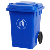 80liter HDPE hotel lobby airport green outdoor industrial plastic dustbin with wheels