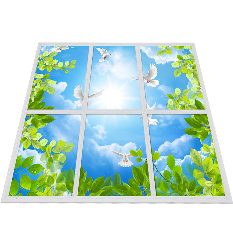 good quality cheap price led sky panel lamp 300X300MM aluminum 6060 Led Panel Light Led Blue Sky Ceiling Panel Lights