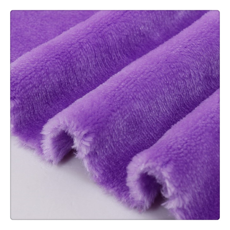100% polyester micro poly coral fleece fabric for blankets