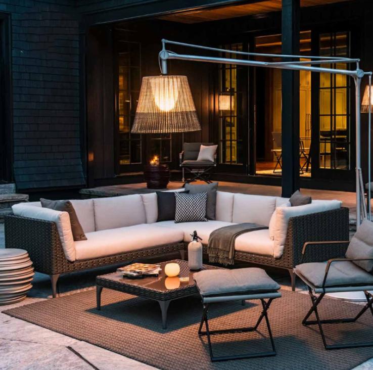 Лидер продаж, набор плетеных уличных диванов для наружной садовой мебели, используемый диван из ротанга