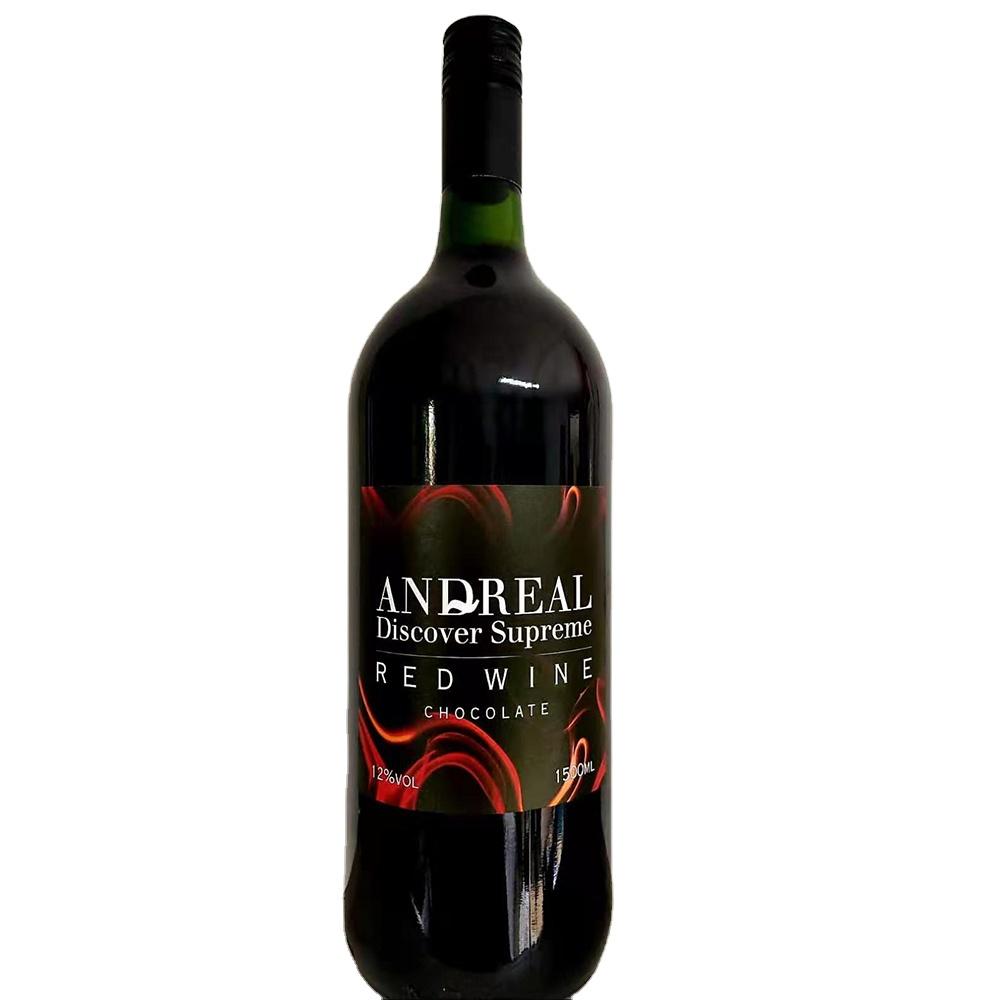 Полусухое красное вино 1,5 л, заварные бутылки Magnum 12%, Andreal Discover Spr LT