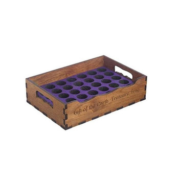 Hot sale furniture supplies health massage shop decor solid wood box essential oil bottle