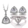 trillion moissanite jewelry set