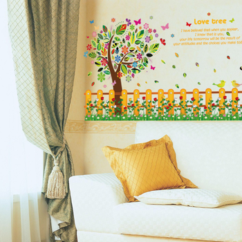 Tree Family photos Wall Decal Sticker Bedroom tree of life roots birds flying away home decor art living room decor
