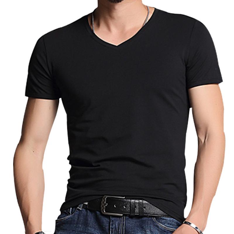 Cheap Wholesale Plain White Full Sleeve Collar Tshirt Design Manufacturer For Men plain t-shirts