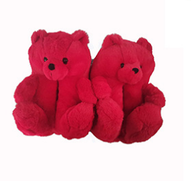 2021 New arrival bedroom teddybear teddy bear slippers plush house shoes for women