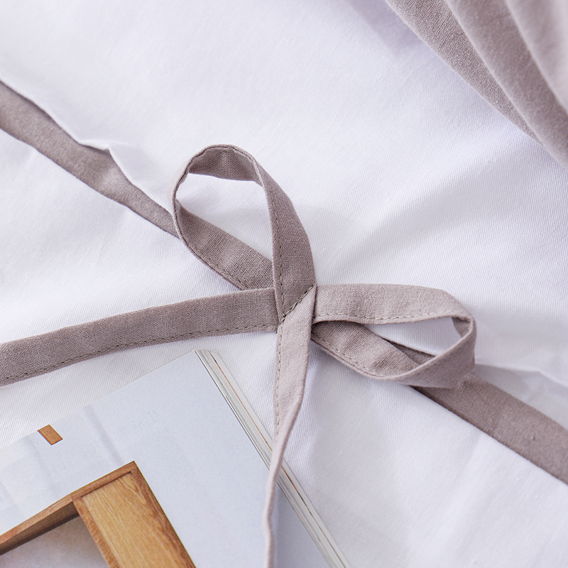 Ruikasi RKSB-0296; Новейший дизайн; Галстук-бабочка; Таможенных 100%; Роскошное хлопковое постельное белье с простыней постельное белье белого цвета