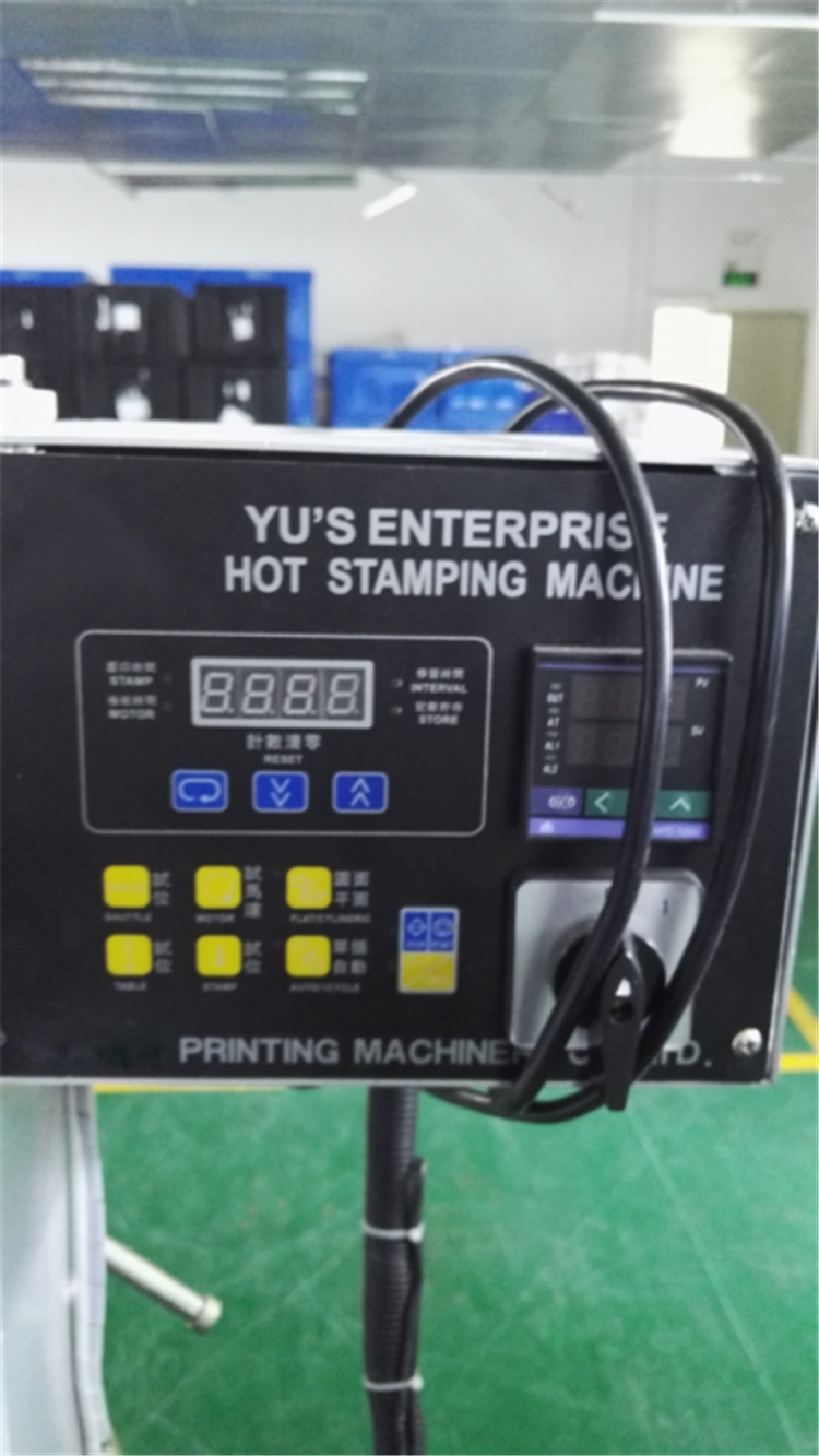 Pneumatic Automatic Cylinder And Flat Hot Foil Stamping Machine For Cosmetic Bottle Glass Bottle