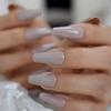 nude grey midi
