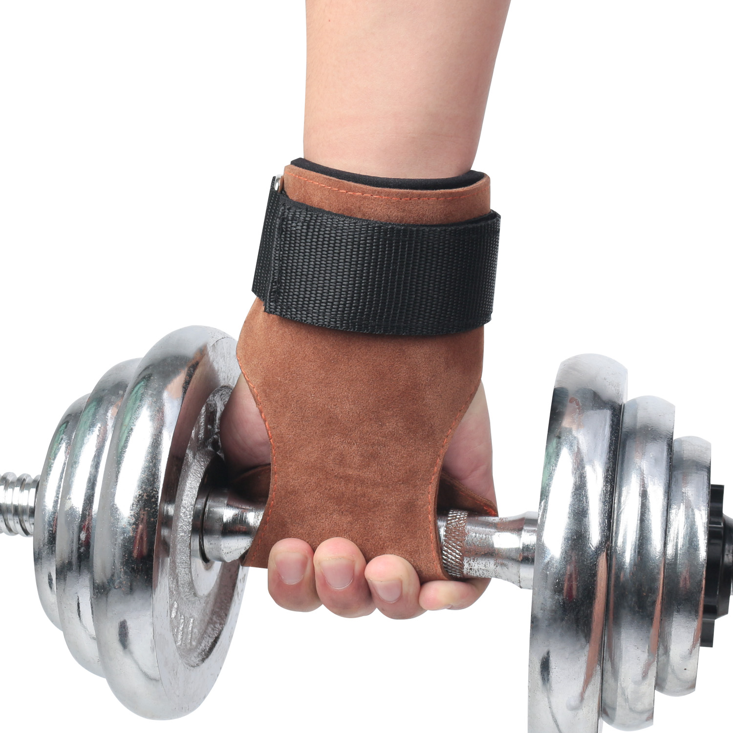 SHIWEI-HS004#Weight Lifting Gloves with Built-In Wrist Wraps Great for Pull Ups Cross Training Palm Support