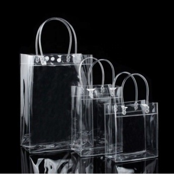 Clear Tote Fashion Bag PVC Transparent Shopping Bag Shoulder Handbag Stadium Approved Environmentally Storage Bags