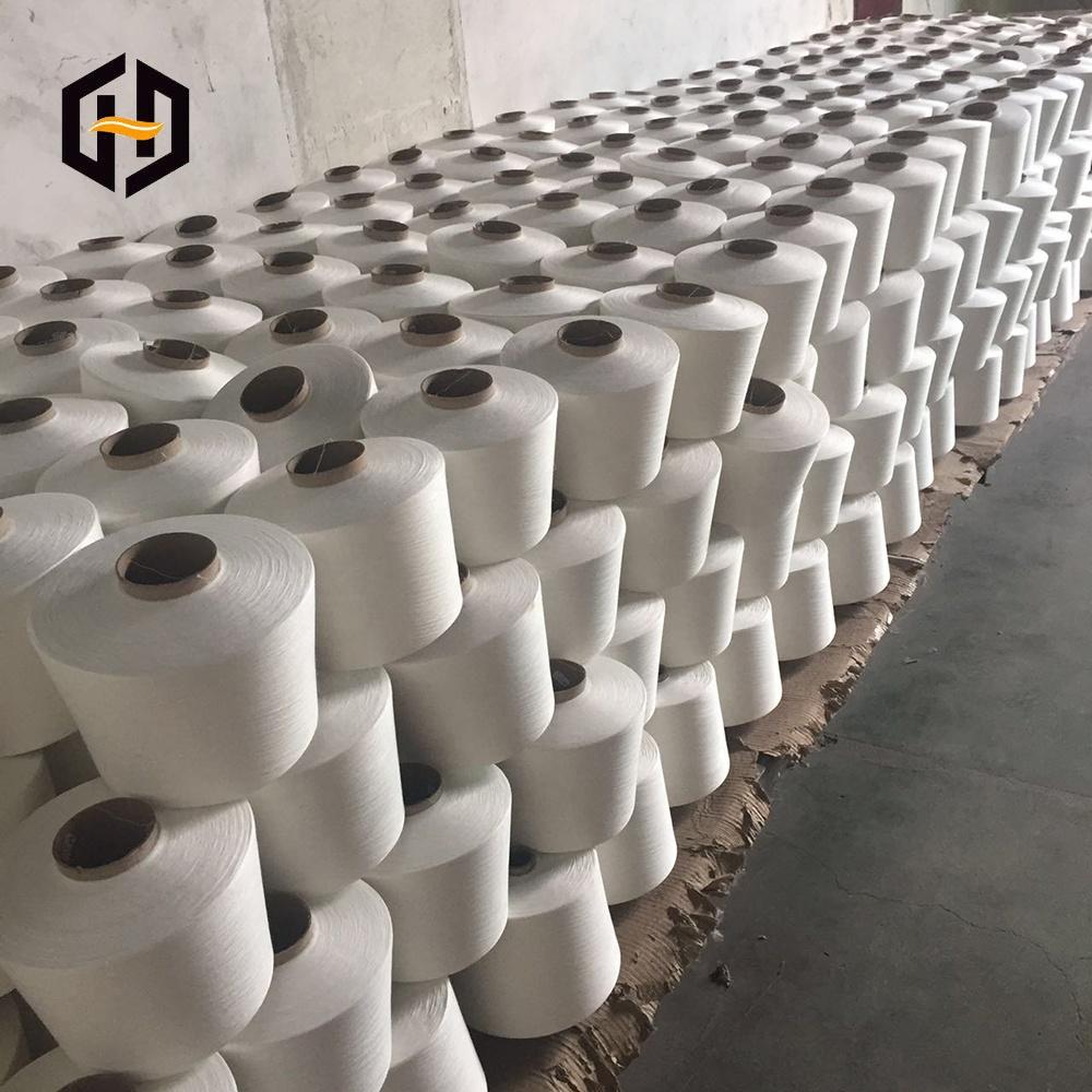 Китай, заводская цена, 100% полиэфирная пряжа, 30/1 сырая белая пряжа класса А для плетения