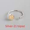 Silver-21 topaz