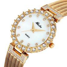 MISSFOX Женские Часы Люксовый Бренд Часы Браслет Водонепроницаемый Big Lab Diamond Женские Наручные Часы Для Женщин Кварцевые Часы(Китай)