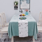 High Table Decorations High Quality Durable 100% Polyester Suede Dinning Tabletop Table Runner Table Cloth Festival Decorations
