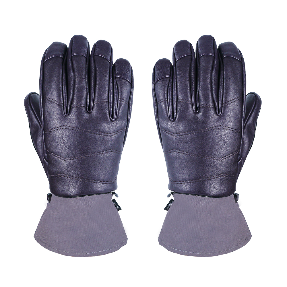 Snowboard Gloves Women Skiing Sports Faux leather Waterproof Breathable