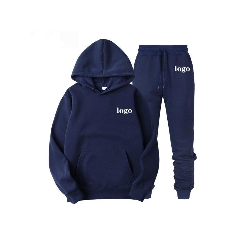 Оптовая продажа, дизайнерские собственные Дешевые толстовки из полиэстера с флисовой подкладкой, свитшот, штаны для бега, спортивный костюм, комплект для женщин и мужчин