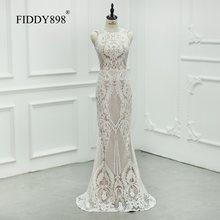 Сексуальное свадебное платье Русалочки с блестками 2020, круглый вырез, без рукавов, длина до пола, свадебное платье, свадебные платья(Китай)