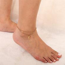Salircon простой браслет на ногу, ювелирное изделие золотого цвета, кубинская цепочка, массивный браслет для женщин и девушек, модный пляжный ак...(Китай)