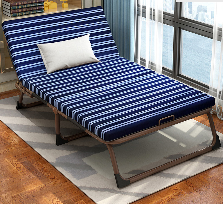 Utility modern design indoor and outdoor cheap foldable sofa bed folding bed with foam mattress