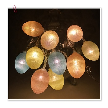 1.5m 10led Indoor Globe Connectable Party Ball Easter Day Egg LED String Fairy Christmas Lights Rubber Festoon Light