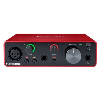 New model Focusrite Scarlett Solo 3rd professional audio interface sound card