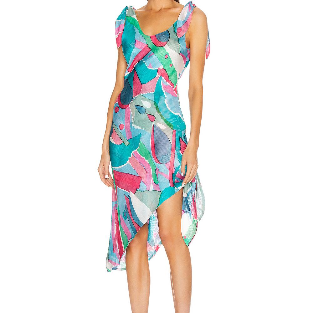 silk summer dress,