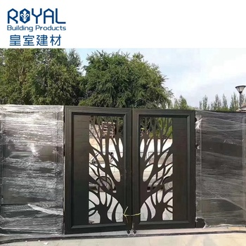 Automatic aluminum alloy power coated main gate design Garden aluminium fence and gates/outdoor latest main gate