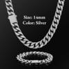 14mm Silver Buckle Clasp Curb Cuban Chain