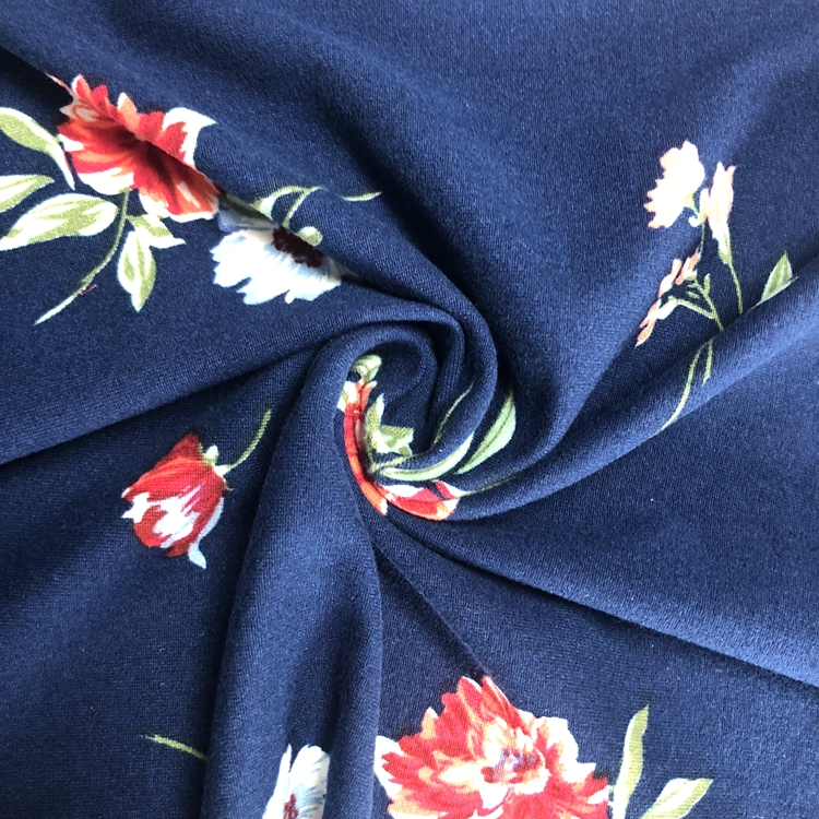 Custom Digital Printed 95% Polyester 5% Elastane DBP Fabric Double Brushed Polyester Fabric