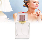 Glass Perfume Bottles 100ml Wholesale Square Customized Luxury Empty Glass Perfume Bottles Spray 100ml 50ml