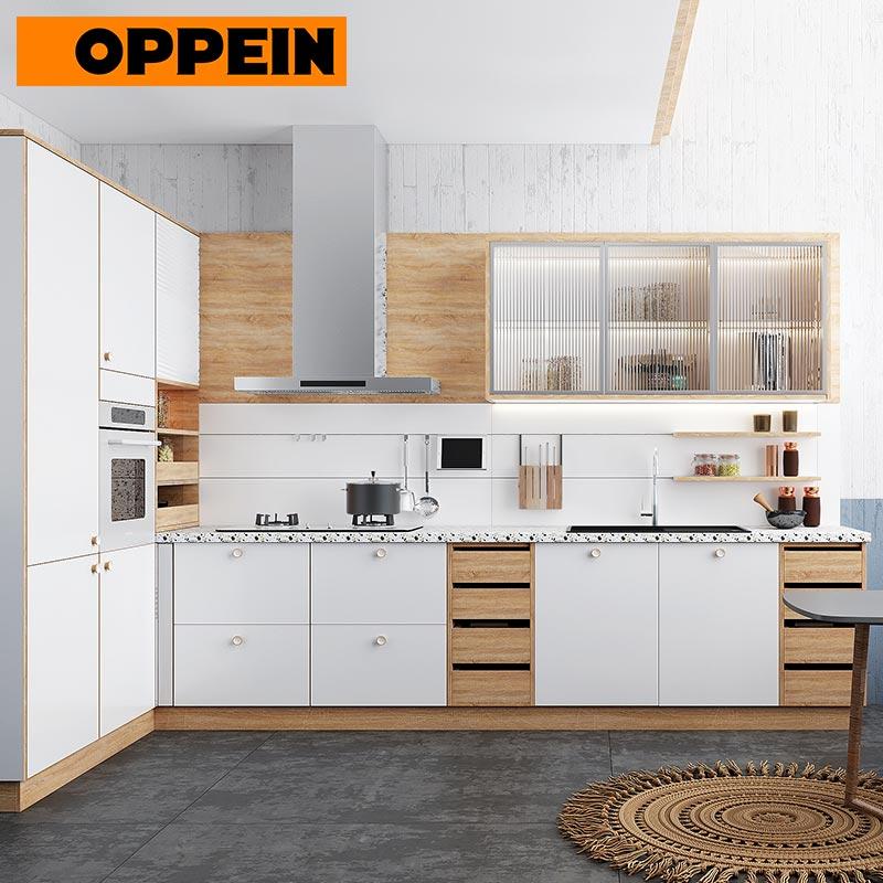 Oppein Modern White Custom Built In Furniture Fitted Kitchen Cabinets Buy Fitted Kitchen Cabinets Built In Furniture Fitted Kitchen Product On Alibaba Com