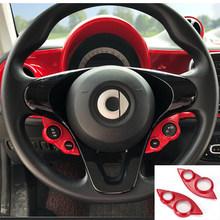 Декоративные наклейки для салона автомобиля, защитные наклейки для Smart 453 fortwo forfour, аксессуары для модификации интерьера(Китай)