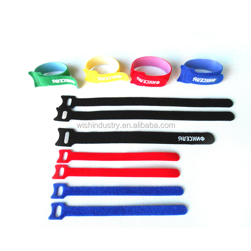 High quality factory price multi-usage hook and loop nylon fastening cable tie