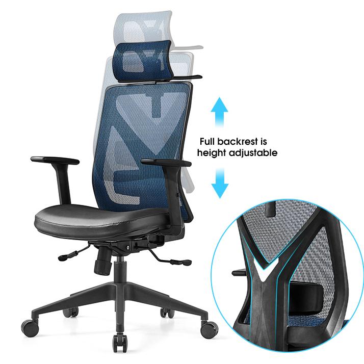 Лучшая цена, эргономичный дизайн, полностью сетчатый стул с высокой спинкой, офисный стул руководителя, прошел стандарт BIFMA