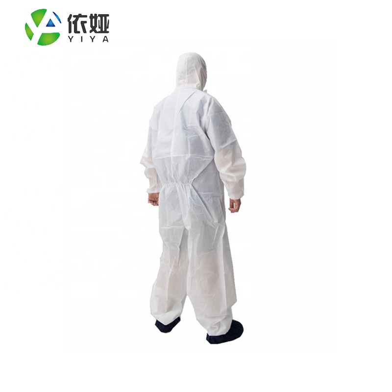 Overall disposable 30gsm non woven coverall disposable with hood