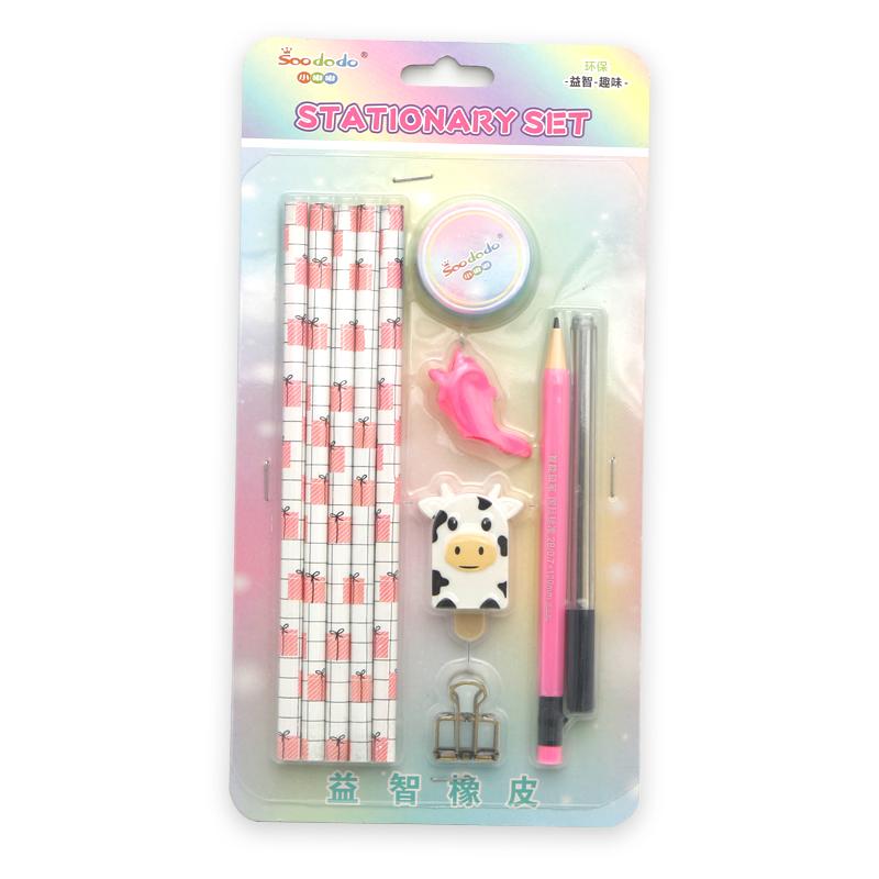 Комплекты канцелярских принадлежностей Soododo XDD12231, школьные принадлежности, рекламный подарок для детей, набор канцелярских принадлежностей
