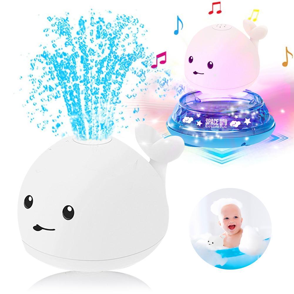 Интерактивные игрушки для ванны 2 в 1, индукционный спрей, водный КИТ, игрушки для купания со светодиодной подсветкой и музыкой, Электрический спринклер, шар для подарка