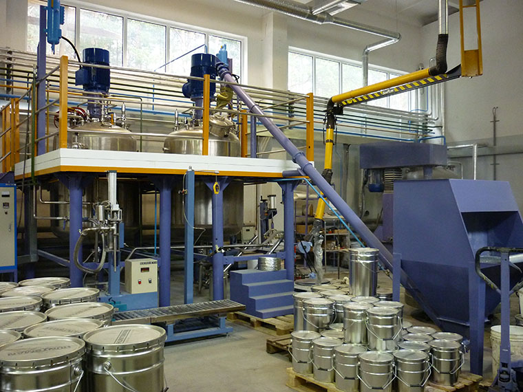 solvent coating production complete plant