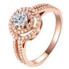 Rose Gold Diamond Ring Diamond The Latest Jewelry Design Rose Gold Double Halo Crown Diamond Wedding Ring Custom For Women