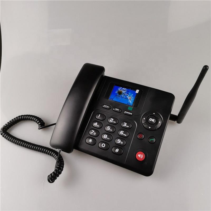 Etross 4g android landline phone sim card wireless desktop phone with wifi hotspot